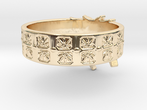 Married to Mary Ring in 14k Gold Plated Brass: 8 / 56.75
