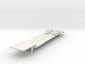 000474 HO 1:87 Low Loader in White Natural Versatile Plastic