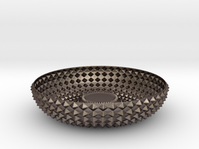 Bowl GRNT1010 in Polished Bronzed-Silver Steel