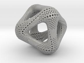 Perforated Octahedron in Aluminum