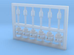 6 Stück Blitzboje Typ-A mit Halter in 1:75 in Smoothest Fine Detail Plastic