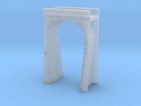 T-scale Stone Viaduct Section - 45mm Straight in Smooth Fine Detail Plastic