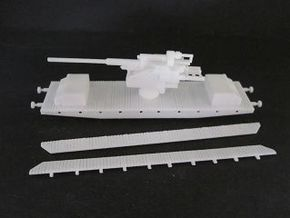 1/144 German 12,8 cm Flak railway car in White Natural Versatile Plastic