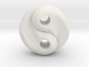Fire and water yin yang in White Natural Versatile Plastic