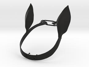 Unicorn Ears in Black Natural Versatile Plastic: Large