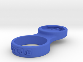 "Wahoo Stem Cap Mount 1-1/4"" - 0deg in Blue Processed Versatile Plastic"