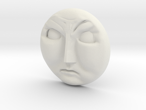 Gordon Face [H0/00] - Angry in White Natural Versatile Plastic