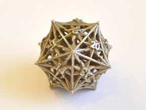 D20 Spindown - Radiant in Polished Bronzed Silver Steel