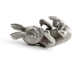 Tiny Rabbit in Raw Bronze