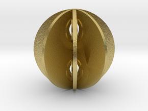 Yin yang sphere in Natural Brass