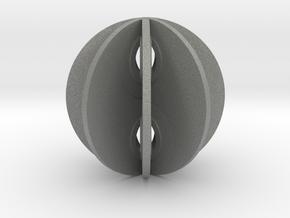 Yin yang sphere in Gray PA12