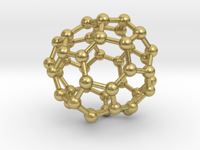 0685 Fullerene c44-57 c1 in Natural Brass