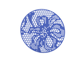 Coaster in Blue Processed Versatile Plastic