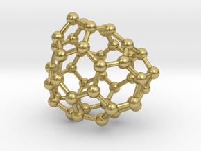0686 Fullerene c44-58 c1 in Natural Brass