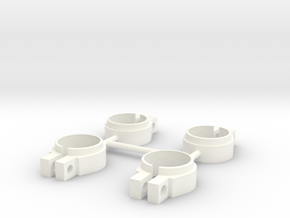 ASC6474 - White Shock Clamps in White Processed Versatile Plastic