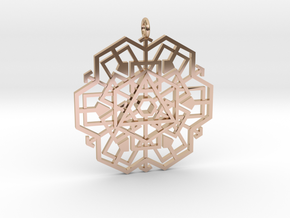 geo_shape in 14k Rose Gold Plated Brass