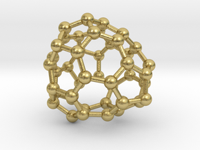 0687 Fullerene c44-59 c1 in Natural Brass