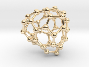 0688 Fullerene c44-60 c1 in 14k Gold Plated Brass