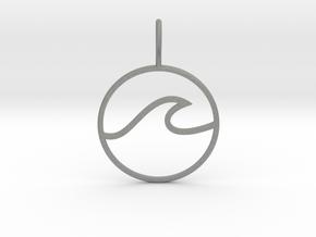 Wave Pendant in Gray Professional Plastic