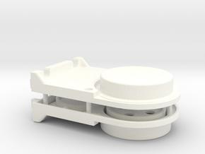 Strap Clasp in White Processed Versatile Plastic
