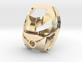 Noble Kanohi Ruru in 14k Gold Plated Brass
