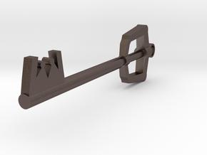 Keyblade Keychain in Polished Bronzed Silver Steel