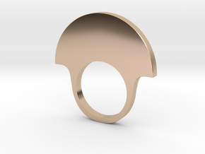 fan ring smaller in 14k Rose Gold Plated Brass: 6 / 51.5