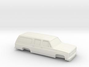 1/64 1986 Chevrolet Suburban in White Natural Versatile Plastic