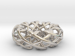 Counter rotating Torus with Celtic knots in Platinum