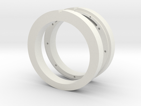 NFC ready cross ring in White Natural Versatile Plastic