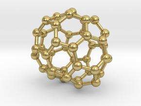 0694 Fullerene c44-66 c1 in Natural Brass