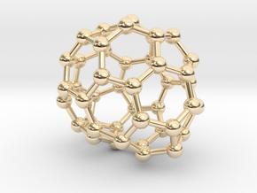 0694 Fullerene c44-66 c1 in 14k Gold Plated Brass