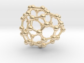 0695 Fullerene c44-67 c1 in 14k Gold Plated Brass