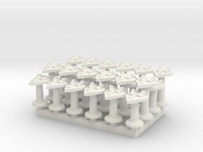 BFG Delta bombers (x24) in White Natural Versatile Plastic