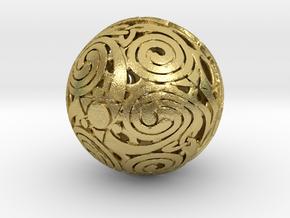 Triskelion sphere in Natural Brass