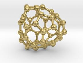 0698 Fullerene c44-70 cs in Natural Brass