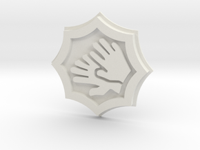 Massive Darkness Two-handed Weapon Token in White Natural Versatile Plastic