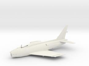 FJ4-144scale-OnTarmac-1-airframe in White Natural Versatile Plastic