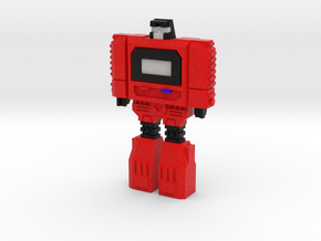 Retro Time Robot (Red) in Natural Full Color Sandstone