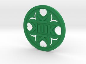 Key Fob of Kek in Green Processed Versatile Plastic: Medium