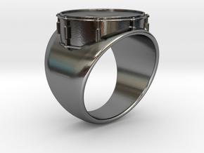 DRUM Ring in Polished Silver