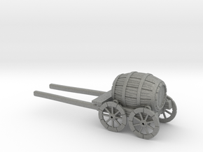 HO Scale Barrel Wagon in Gray PA12
