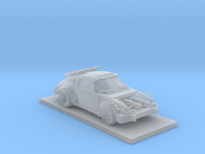 Porsche Car  in Smooth Fine Detail Plastic