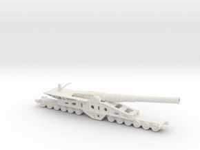 Canon de 340 mm 1/144 railway artillery  in White Natural Versatile Plastic