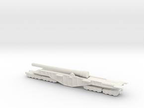 BL 14-inch Railway Gun 1/285 Boche Buster in White Natural Versatile Plastic