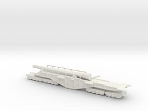 BL 14-inch Railway Gun 1/144 HM Gun Boche Buster  in White Natural Versatile Plastic