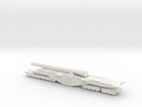 BL 18-inch Railway Gun 1/285 HM Gun Boche Buster  in White Natural Versatile Plastic