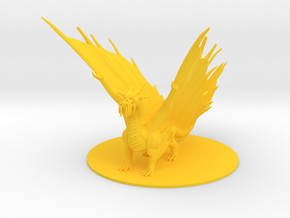 Ancient Gold Dragon in Yellow Processed Versatile Plastic