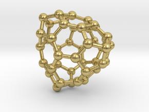 0701 Fullerene c44-73 t in Natural Brass