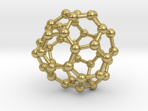 0704 Fullerene c44-76 c1 in Natural Brass